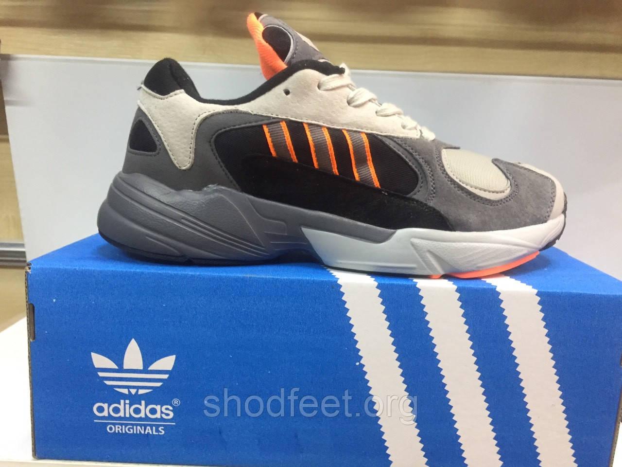 Мужские кроссовки Adidas YUNG-1 Grey Black Orange