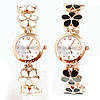 Часы женские позолоченные с браслетом-цветами