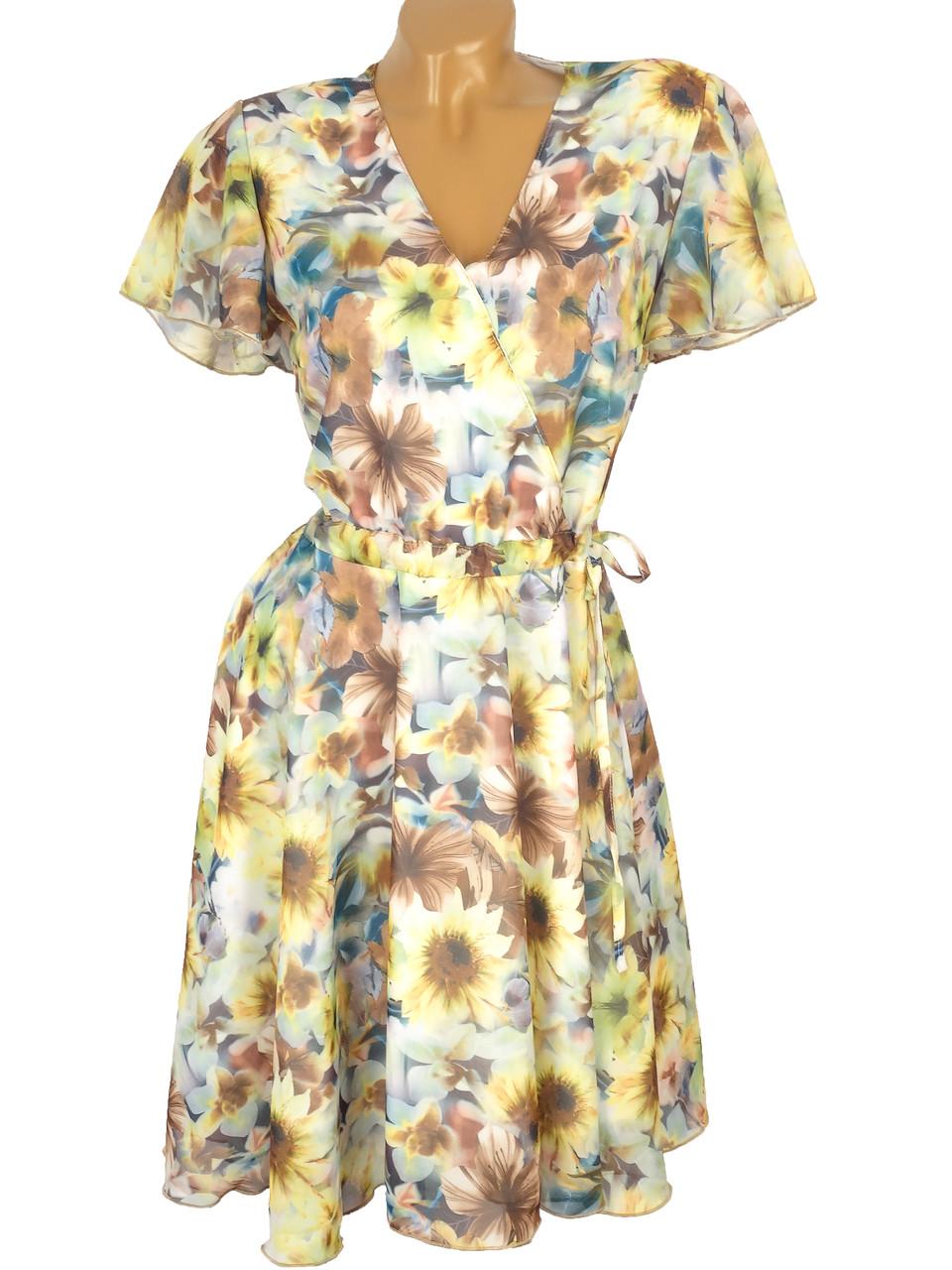 Приталенное платье из шифона 42-48