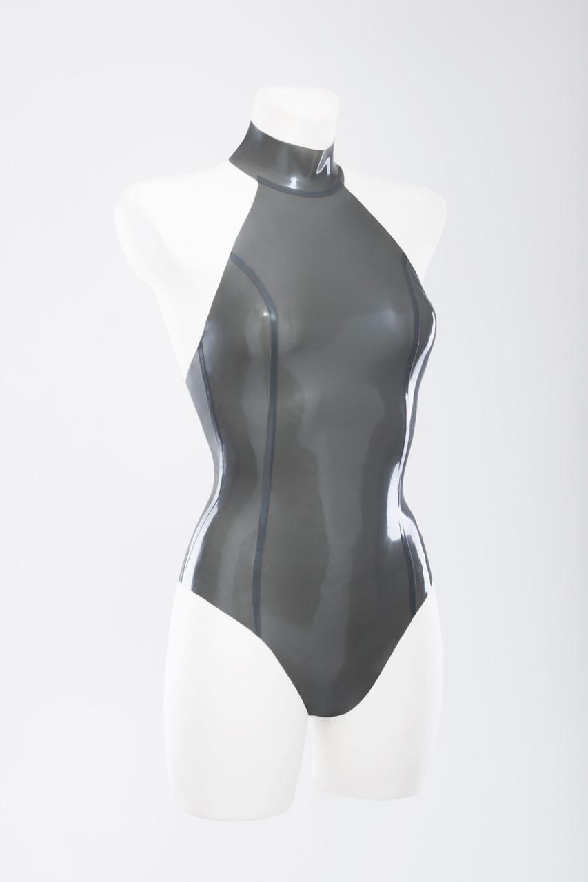 Купальник из латека с ошейником Latex Swimsuit With Collar