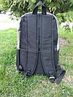 Рюкзак в стиле Fila (копия) в цвете серый+чёрный, из полиэстера, фото 2