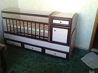 Детская кровать  трансформер от 0 до 12 лет Надія-1