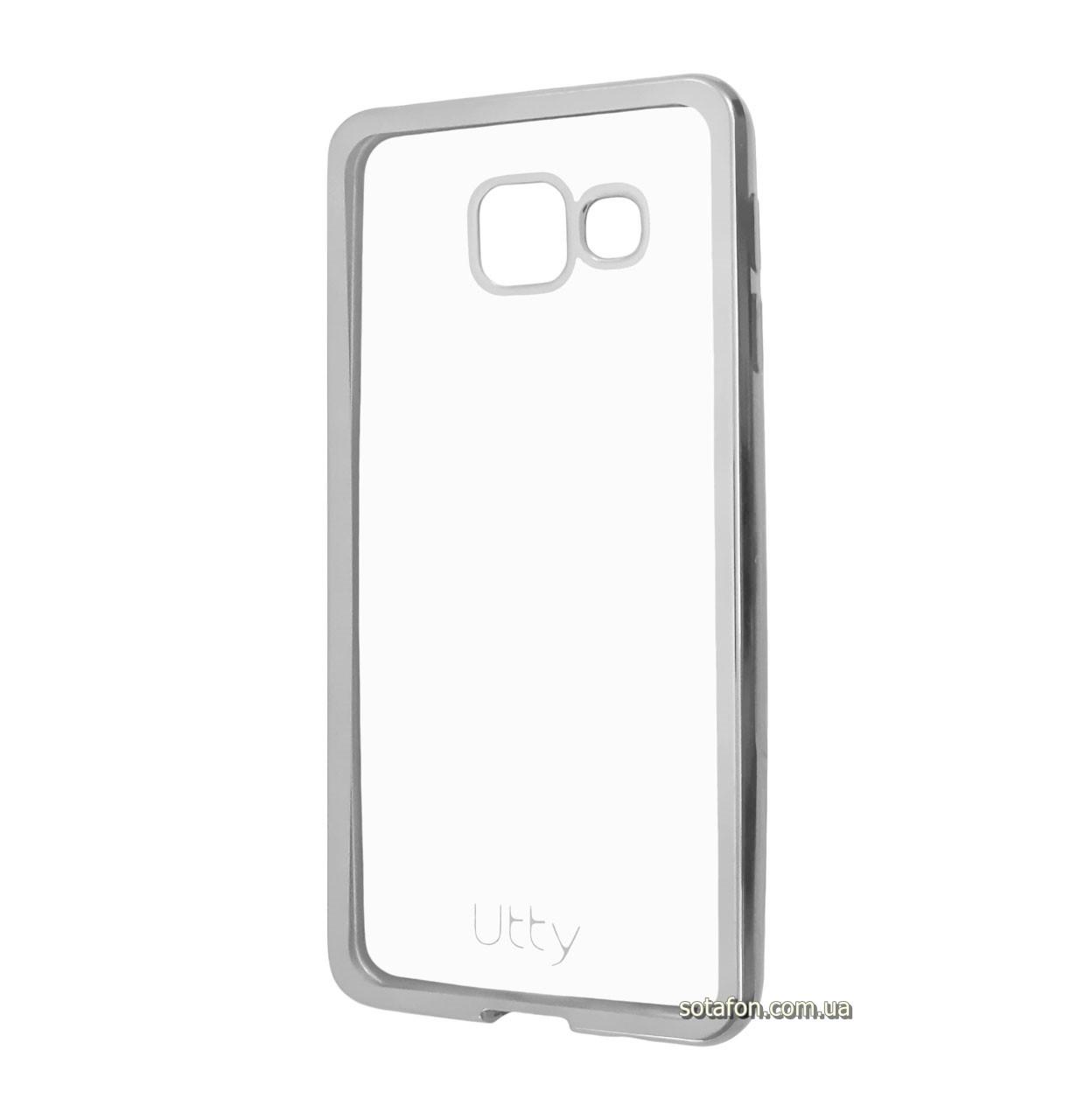 Силиконовый чехол Utty Electroplating TPU на Samsung Galaxy A3 (2016) SM-A310F Silver