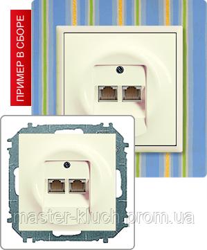 Розетка impuls накладка двойной RJ-11/RJ-45 розетки