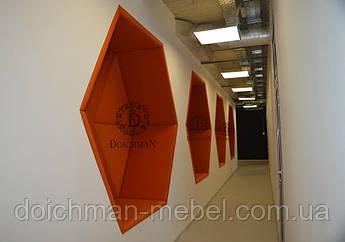 Декоративные стеновые панели для офиса, зоны отдыха