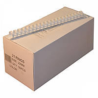 Пружины пластиковые Agent 22мм бел, уп/50.