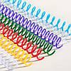 Спираль пластиковые A4, 4:1,  8мм, бел, уп/100