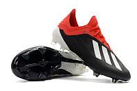 Футбольные бутсы adidas X 18.1 FG Core Black/White/Solar Red, фото 1