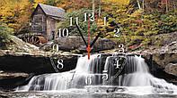 """Часы настенные стеклянные """"Водопад в лесу"""""""