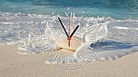 """Часы настенные стеклянные """"Берег океана"""""""