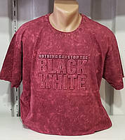 Мужская футболка красная джинс большой размер