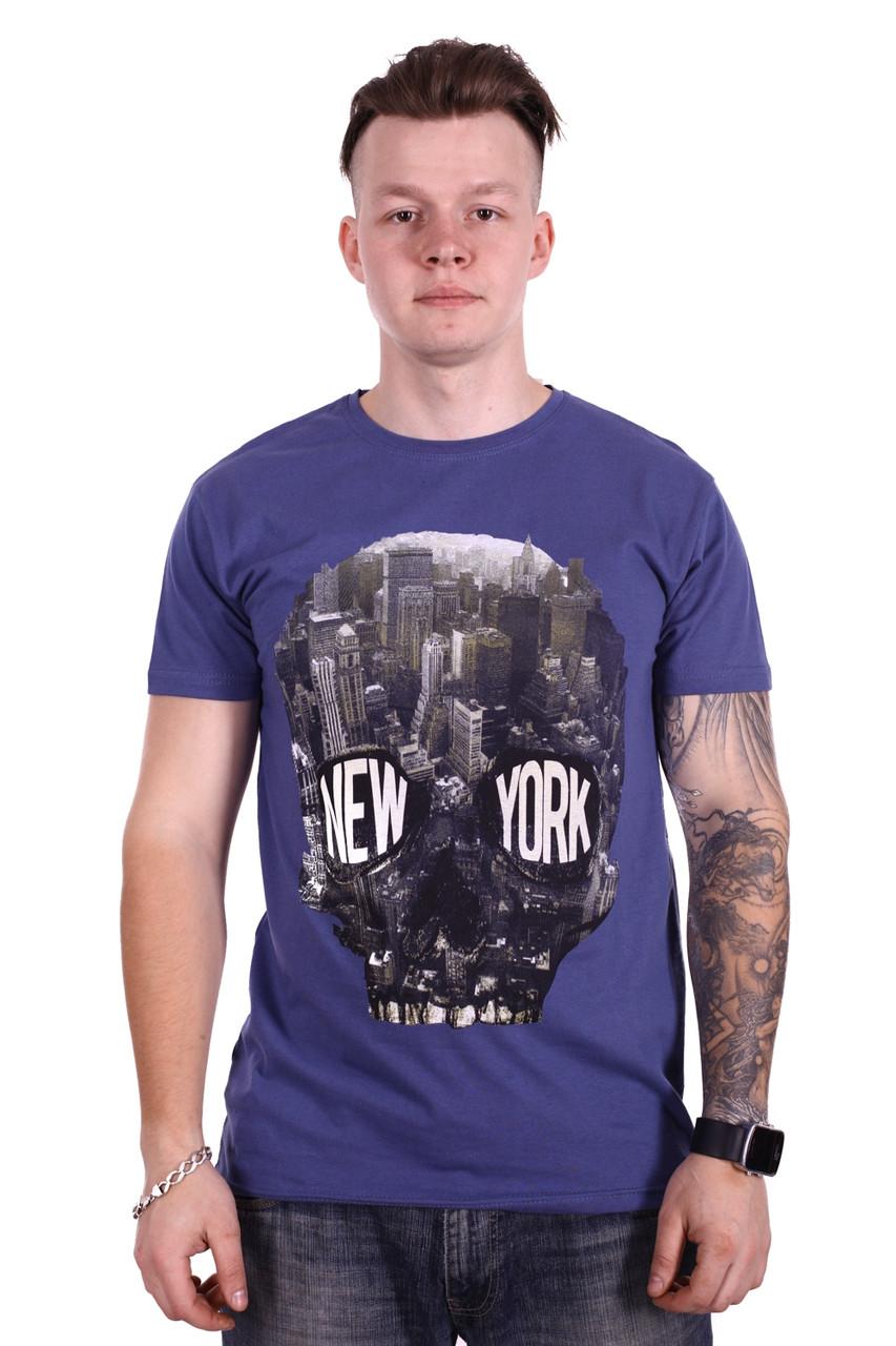 Футболка RIXON New York f1913/3 Синяя XXL