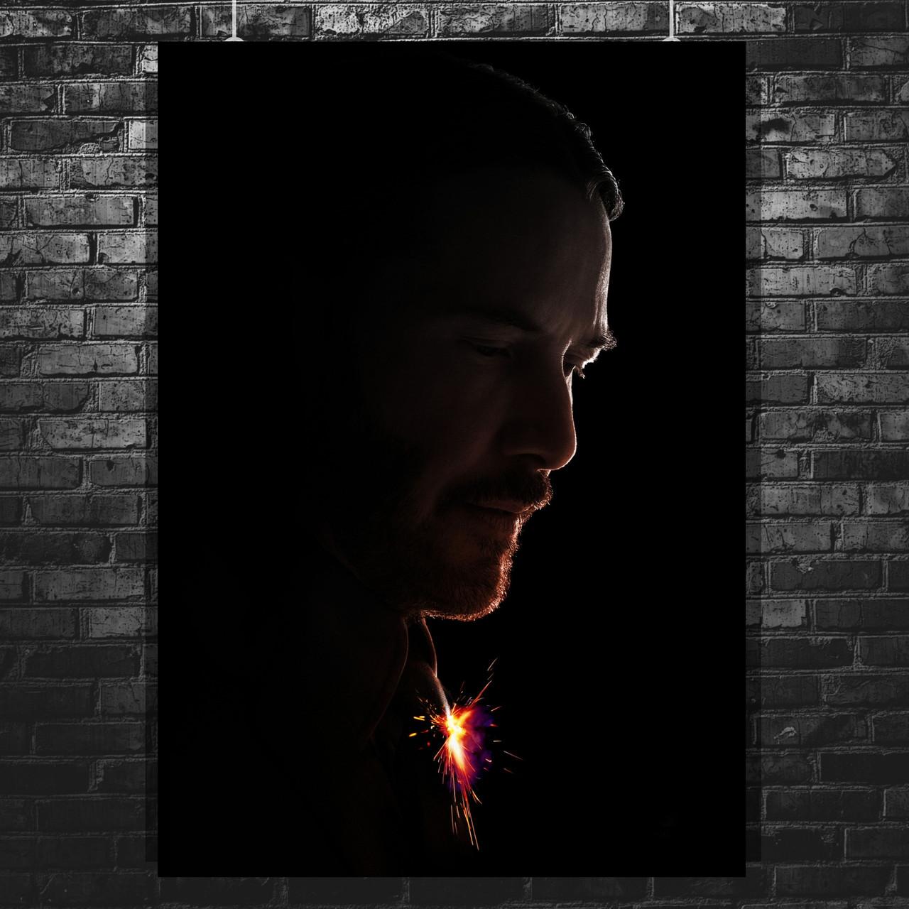 Постер John Wick 2, Джон Уик 2, Киану Ривз. Размер 60x43см (A2). Глянцевая бумага