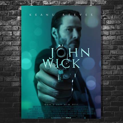 Постер John Wick, Джон Уик, Киану Ривз, пистолет крупным планом. Размер 60x43см (A2). Глянцевая бумага, фото 2