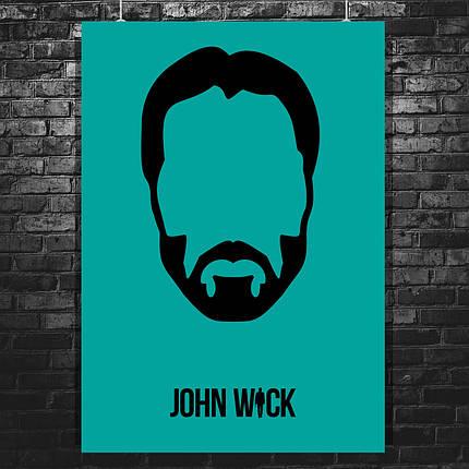 Постер John Wick, Киану Ривз, Джон Уик (минималистичный постер). Размер 60x43см (A2). Глянцевая бумага, фото 2