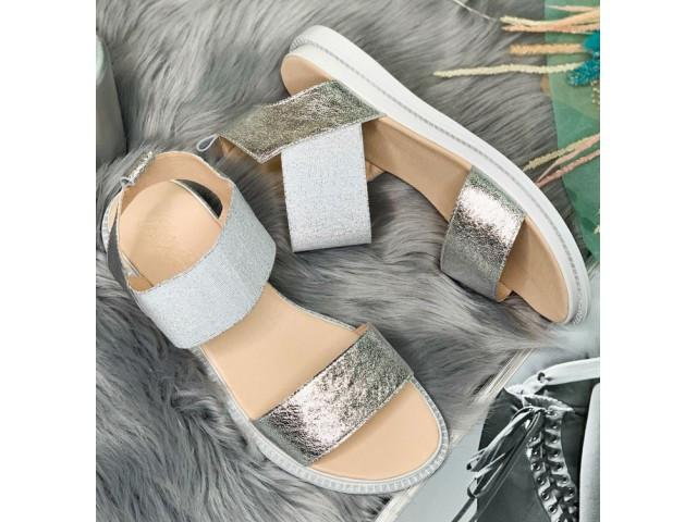 Босоножки * женские AVE 102-6 серебро * 20075