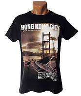 Футболка с рисунком Hong Kong City - №5192