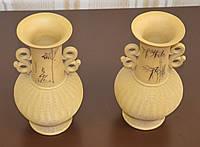 Пара керамических ваз одноцветных