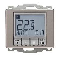 Регулятор температуры с часовым механизмом 250В Berker Arsys Стальной Лак (20449004)