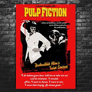 """Постер """"Криминальное чтиво"""". Pulp Fiction, Twist Contest. Размер 60x43см (A2). Глянцевая бумага"""