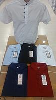 Рубашка мужская Slim Fit ( стрейч; р-ры S - XL )