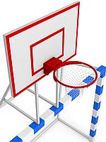 Ворота минифутбольные/гандбольные с баскетбольным щитом 3х2м