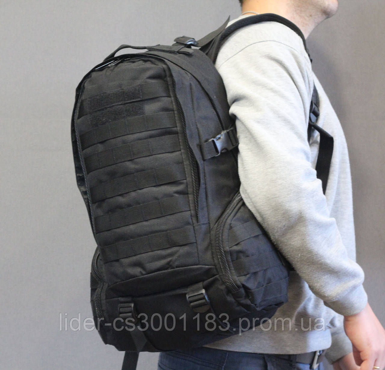 Тактический (городской, штурмовой) рюкзак Oxford 600D с системой M.O.L.L.E на 25-35 литров (ta30-black)