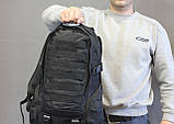 Тактический (городской, штурмовой) рюкзак Oxford 600D с системой M.O.L.L.E на 25-35 литров (ta30-black), фото 5