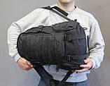 Тактический (городской, штурмовой) рюкзак Oxford 600D с системой M.O.L.L.E на 25-35 литров (ta30-black), фото 6