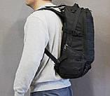 Тактический (городской, штурмовой) рюкзак Oxford 600D с системой M.O.L.L.E на 25-35 литров (ta30-black), фото 9