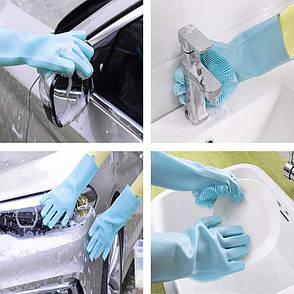 Силиконовые многофункциональные кухонные перчатки для мытья посуды, чистки и уборки Magic Silicone Gloves, фото 2