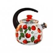 Чайник эмалированный со свистком 2,5 л Черешня (Украина)