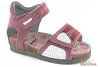 Босоножки для девочки розовые на пробковой подошве (22 размер) Bartek 5904699426170