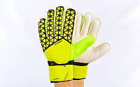 Перчатки вратарские юниорские с защитными вставками на пальцы  PREMIER LEAGUE FB-877-3