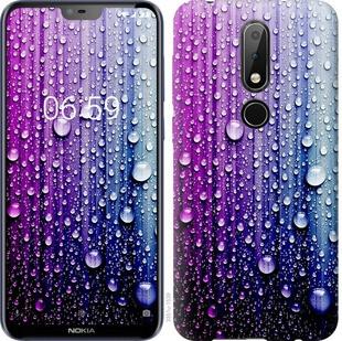 """Чехол на Nokia 6.1 Plus Капли воды """"3351u-1539-19380"""""""