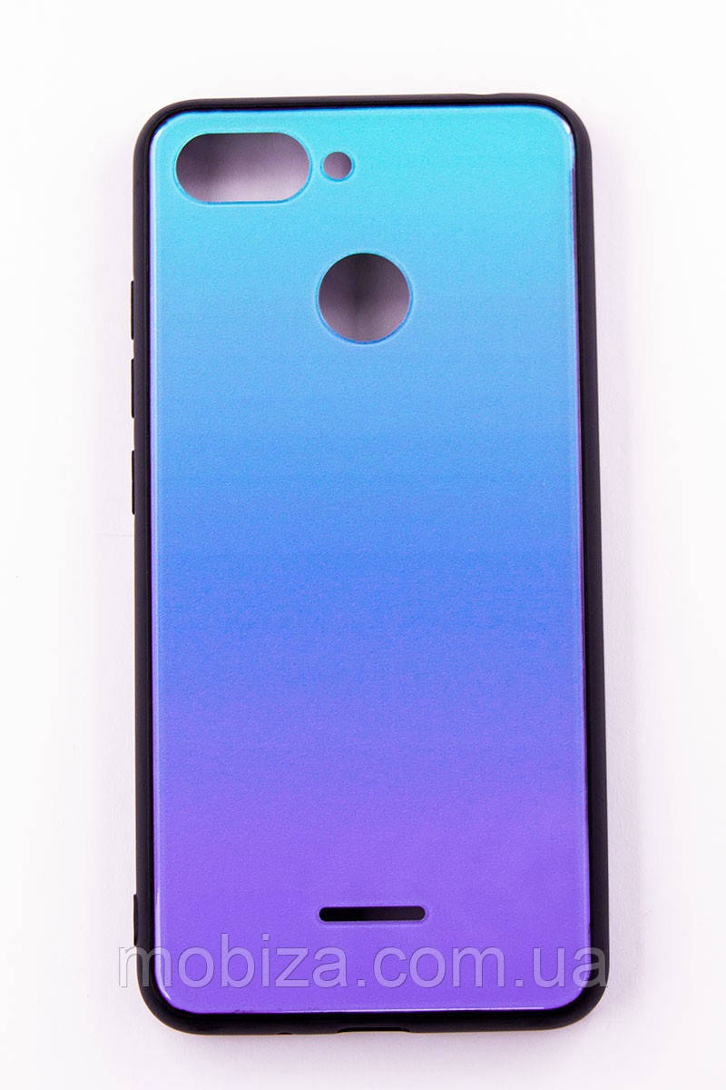 "Чохол-панель FINE LINE (Back Cover) ""Mirror"" для Xiaomi Redmi 6,(Lighting Blue)"