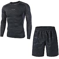 Спортивный мужской комплект одежды для тренировок Fannai M Темно-синий FA04