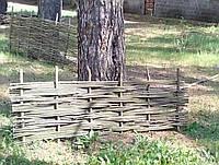 Плетеный(плетень) забор из лозы - Верболоз , фото 1