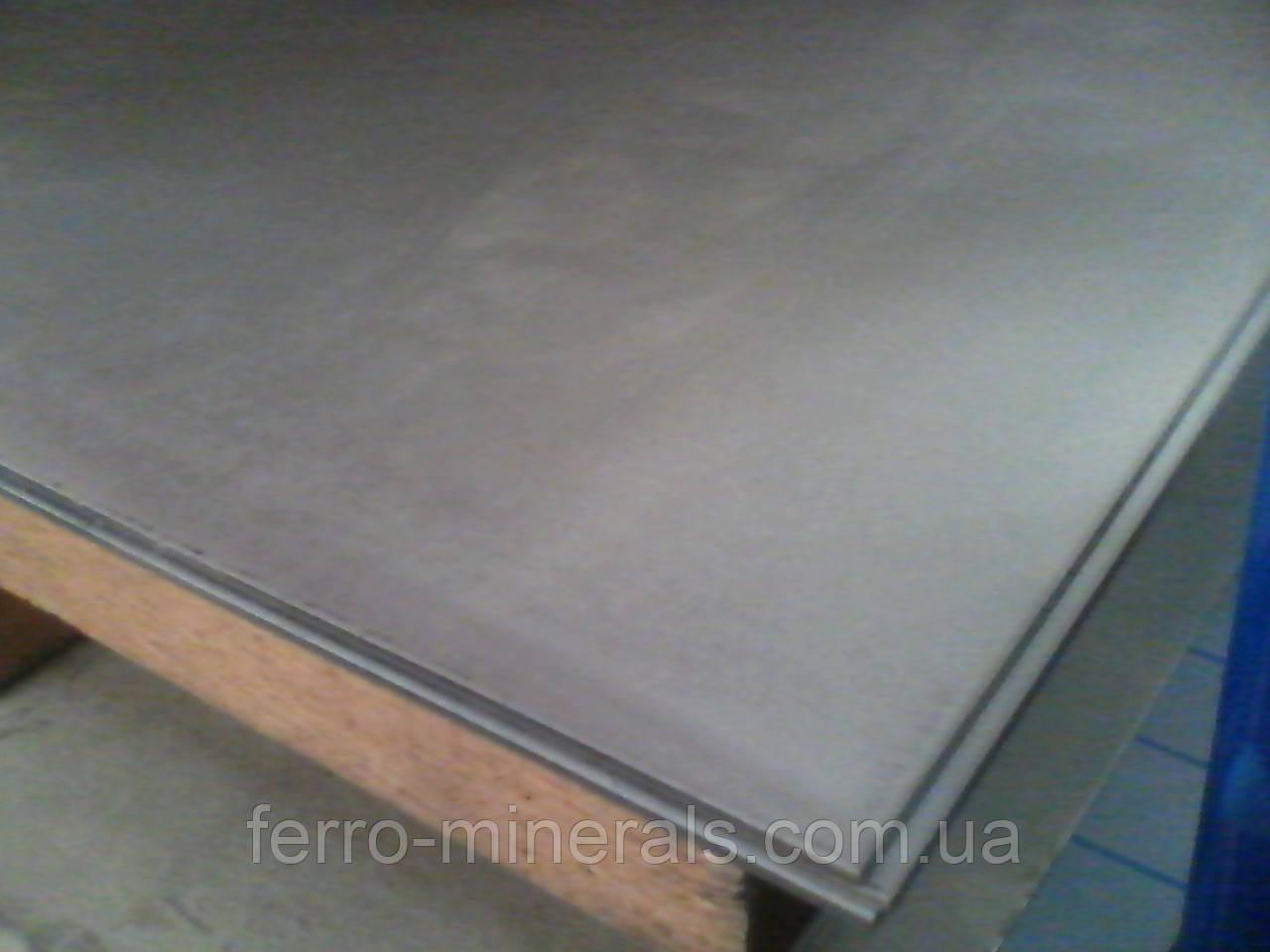 Нержавеющий лист 4,0х1500х6000мм,  AISI 321 (08X18H10Т), 1D