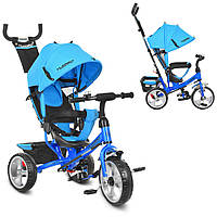 M 3113-5, Велосипед M 3113-5 (1шт)три кол.EVA (11/9),колясочный,тормоз,подшипн.,голубой