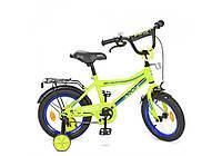 Y16102, Велосипед детский PROF1 16д. Y16102 (1шт) Top Grade, салатовый,звонок,доп.колеса