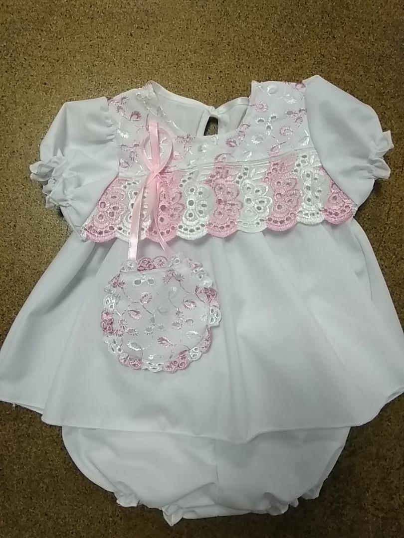 Платье с трусиками хлопок 3-9 месяцев