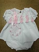 Платье с трусиками хлопок 3-9 месяцев, фото 1