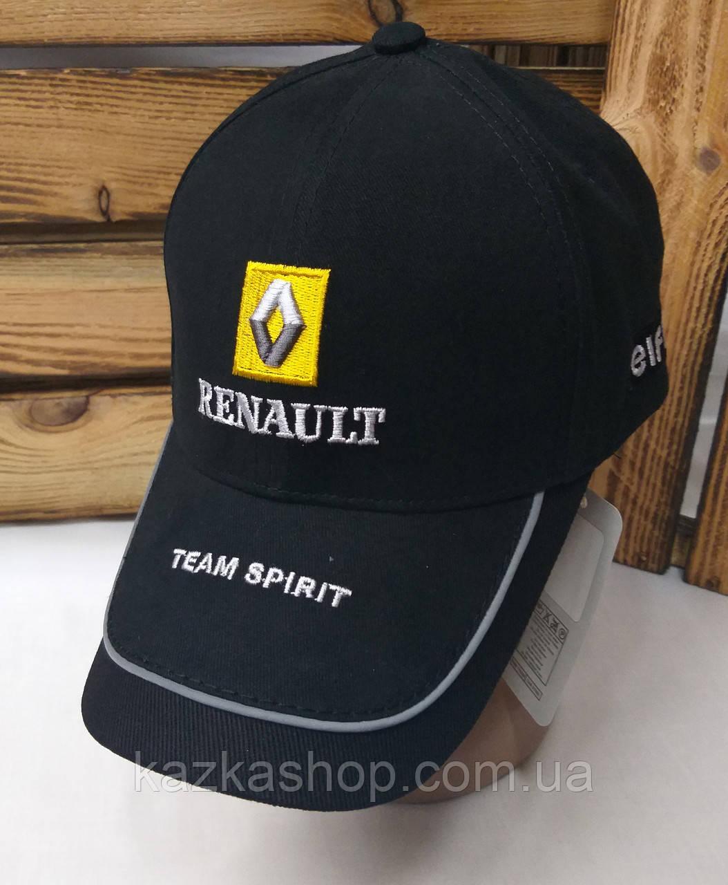 Стильная мужская котоновая кепка, бейсболка, вышивка логотипа Renault, светоотражающий эффект,  размер 58
