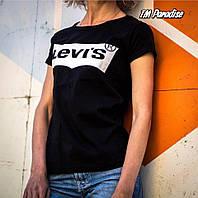 Футболка женская Levis белая серая чёрная , фото 1