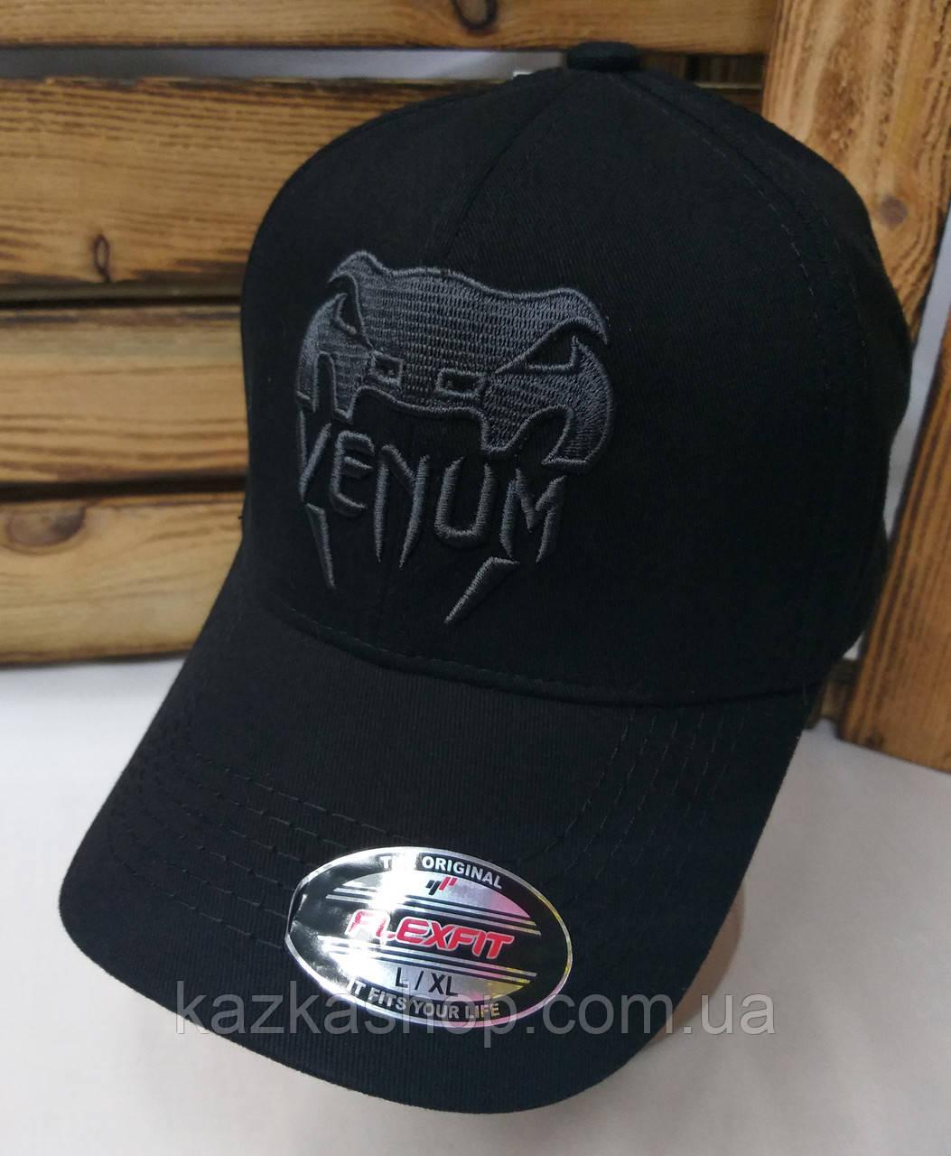 Стильная мужская котоновая кепка, бейсболка, вышивка логотипа Venum,  размер 58, на резинке