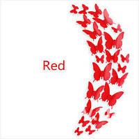 Бабочки 3 Д (красные)