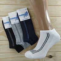 Турецкие носки с сеткой мужские короткие Kardesler Sport Colllection хлопок 40-46р  НМД-0510204
