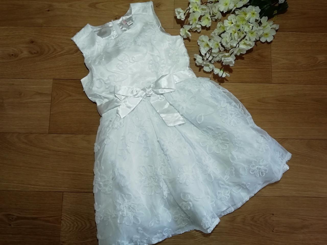 Нарядное белоснежное пышное платье на девочку Children's Place (США) (Размер 8Т)