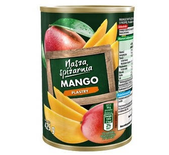 Консервированный манго Nasza Spizarnia  425 г, фото 2